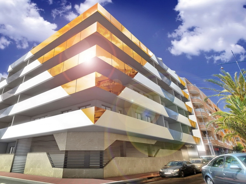 New Build 2 bed 2 bath sea view apartment in Torrevieja