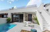 LMCN16868, 2 bed 2 bath New Build Link Villa in Pilar Horadada