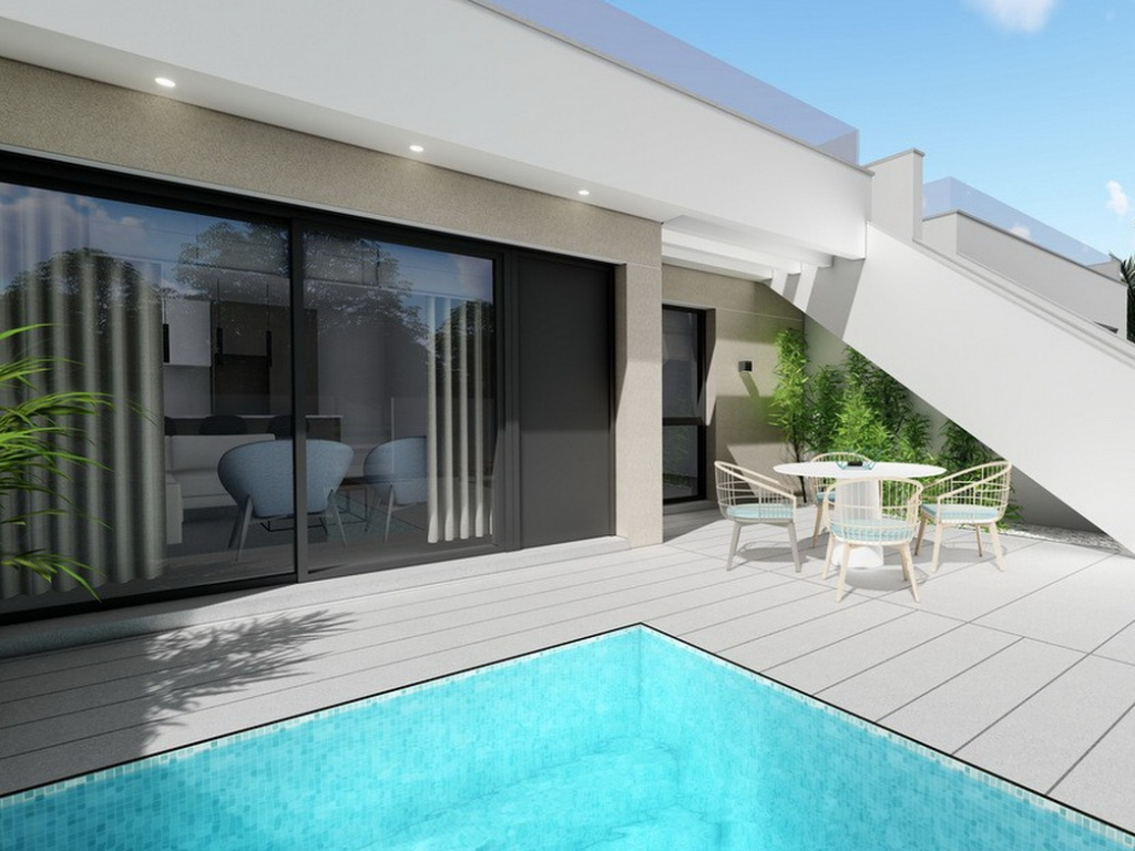 2 bed 2 bath New Build Link Villa in Pilar Horadada